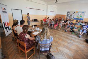 a Gímesi Alapiskola tanulói számára tartott rendhagyó irodalomóra