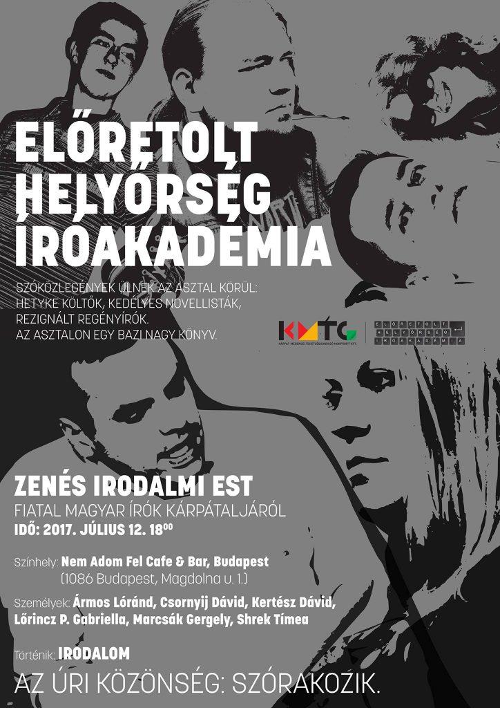 Fiatal magyar írók Kárpátaljáról – Zenés irodalmi est